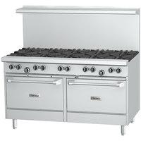 U.S. Range U60-10RR Natural Gas 10 Burner 60 inch Range with 2 Standard Ovens - 396,000 BTU