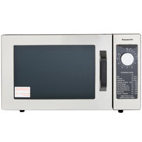 Panasonic NE-1025 Stainless Steel Commercial Microwave Oven with Dial Timer - 120V, 1000W