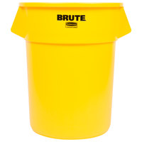 Rubbermaid Brute FG265500YEL Yellow 55 Gallon Trash Can