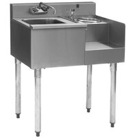 Eagle Group BD24-18R 1800 Series 24 inch Underbar Sink with Right Blender Module