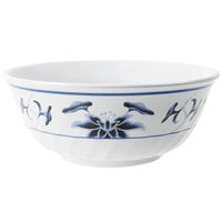 GET M-609-B Water Lily 74 oz. Fluted Melamine Bowl - 12/Pack