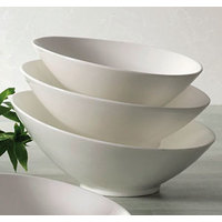 CAC SHER-B9 Sheer 26 oz. Bone White Porcelain Salad Bowl - 12/Case