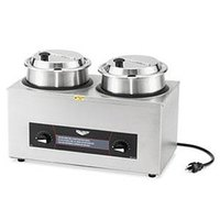 Vollrath Cayenne CM-24 72040 Twin Well 4 Qt. Countertop Rethermalizer / Warmer Package with Insets and Covers 120V