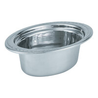 Vollrath 8230110 Miramar 3.5 Qt. Decorative Stainless Steel Oval Food Pan - 4 inch Deep