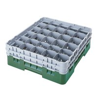 Cambro 30S958119 Sherwood Green Camrack 30 Compartment 10 1/8 inch Glass Rack