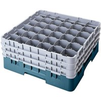 Cambro 36S738414 Teal Camrack 36 Compartment 7 3/4 inch Glass Rack