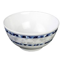 Blue Dragon 25 oz. Round Melamine Rice Bowl - 12/Case