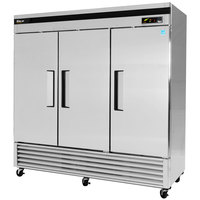 Turbo Air TSF-72SD 82 inch Super Deluxe Three Section Solid Door Reach-In Freezer - 72 cu. ft.