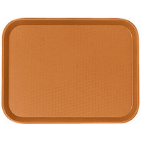 Cambro 1418FF166 14 inch x 18 inch Orange Customizable Fast Food Tray - 12/Case
