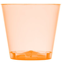 Fineline Quenchers 401-ORG 1 oz. Neon Orange Hard Plastic Shot Cup 2500 / Case