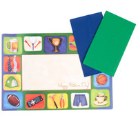 Hoffmaster 856729 10 inch x 14 inch Father's Day Placemat Combo Pack - 200 / Case