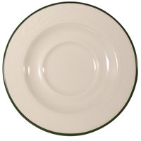 Homer Laughlin Lydia Green 5 1/2 inch Off White China Saucer - 36 / Case