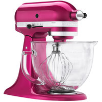 KitchenAid KSM155GBRI Raspberry Ice Premium Metallic Series 5 Qt. Countertop Mixer