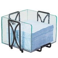 Cal-Mil 1242 Aqua Acrylic Faux Glass Wire Napkin Holder