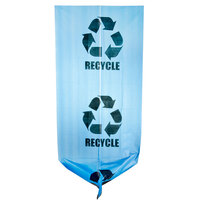 40-45 Gallon 40 inch X 46 inch Blue Tint Linear Low Density Recycling Bag 1.2 Mil - 100 / Case