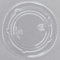 Fabri-Kal Kal-Clear/Nexclear LKC12/20F 5 oz. Clear PET Flat Lid for Alur RD5 5 oz. Customizable Clear PET Plastic Round Deli Container - 1000/Case