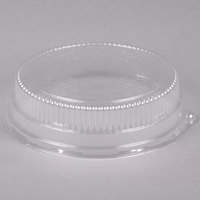 Durable Packaging 12DL 12 inch Clear Plastic Round High Dome Lid - 5/Pack