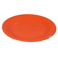 Carlisle 3301652 Sierrus 7 1/2 inch Sunset Orange Wide Rim Melamine Salad Plate - 48/Case