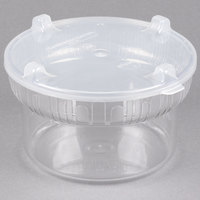 Carlisle 703907 1.9 Qt. Clear Gourmet Crock with Lid - 6/Case