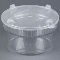 Carlisle 703907 1.9 Qt. Clear Gourmet Crock with Lid - 6 / Case