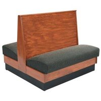 American Tables & Seating AD36-WBB-SS Bead Board Back Standard Seat Double Wood Booth - 36 inch High