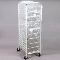 22 inch x 31 inch x 72 inch Disposable .75 Mil Bun Pan Rack Cover - 100/Roll