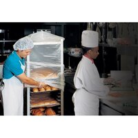 22 inch x 31 inch x 72 inch Disposable Bun Pan Rack Cover 100 / Roll - .75 Mil