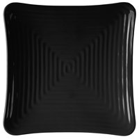 GET ML-63-BK Milano 10 1/4 inch Black Melamine Square Plate - 12/Pack