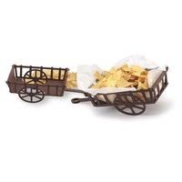 HS Inc. HS1049 8 inch x 5 1/2 inch x 2 3/8 inch Polypropylene The Welcome Wagon Rectangular Brown Basket - 24 / Case