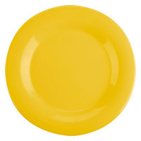 10 1/2 inch Yellow Wide Rim Melamine Plate 12 / Pack