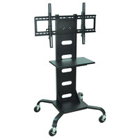 Luxor / H. Wilson WPSMS51 Flat Panel TV Cart with Shelf for 37 inch to 60 inch Screens