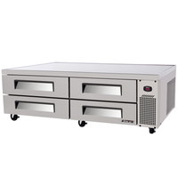 Turbo Air TCBE-82SDR 84 inch Refrigerated Chef Base