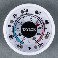 Taylor 5380N 1 3/4 inch Mini Indoor / Outdoor Thermometer
