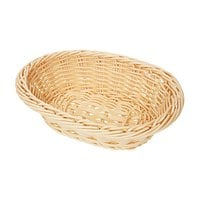 GET WB-1503-N 9 inch x 6 3/4 inch x 2 1/2 inch Designer Polyweave Natural Oval Basket - 12 / Case