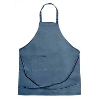 Chef Revival 601BAC-NV Customizable Full-Length Navy Blue Bib Apron - 34 inchL x 28 inchW