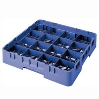 Cambro 16S434168 Camrack 5 1/4 inch High Blue 16 Compartment Glass Rack