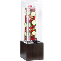 Cal-Mil 1527-3INF-96 3 Gallon Midnight Bamboo Infusion Beverage Dispenser - 8 1/4 inch x 9 3/4 inch x 26 3/4 inch