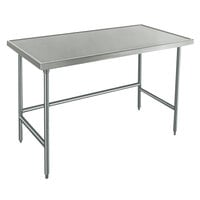 Advance Tabco Spec Line TVLG-245 24 inch x 60 inch 14 Gauge Open Base Stainless Steel Commercial Work Table