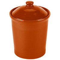 Homer Laughlin 573334 Fiesta Paprika Large 3 Qt. Canister with Cover - 2/Case