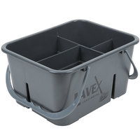 Lavex Janitorial 4 Compartment Gray Janitor Caddy - 11 1/2 inch x 9 inch x 6 inch