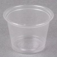 Dart Solo Conex Complements 100PC 1 oz. Translucent Plastic Souffle / Portion Cup - 2500/Case