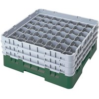 Cambro 49S1114119 Sherwood Green Camrack 49 Compartment 11 3/4 inch Glass Rack