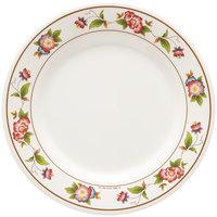 GET M-5090-TR Tea Rose 10 1/2 inch Round Melamine Plate   - 12/Pack