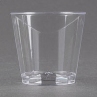 Fineline Quenchers 401-CL 1 oz. Plastic Shot Cup - 50/Pack