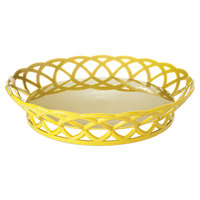 GET RB-860-TY Tropical Yellow Round 10 1/2 inch Plastic Fast Food Basket 12 / Pack