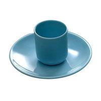 Blue Jade 7 1/8 inch x 5 inch Oval Melamine Platter - 12/Case