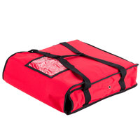 "Choice 18"" x 18"" x 5"" Red Nylon Insulated Pizza Delivery Bag"