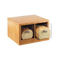Cal Mil 1337-60 Bamboo Two-Drawer Bread Bin - 14 inch x 13 1/2 inch x 5 3/4 inch