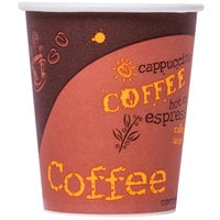 Choice 10 oz. Coffee Print Poly Paper Hot Cup - 1000/Case