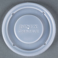 Dinex DX30008714 Translucent Disposable Lid for Dinex Turnbury 8 oz. Mug and 5 oz. Bowl 1500/Case